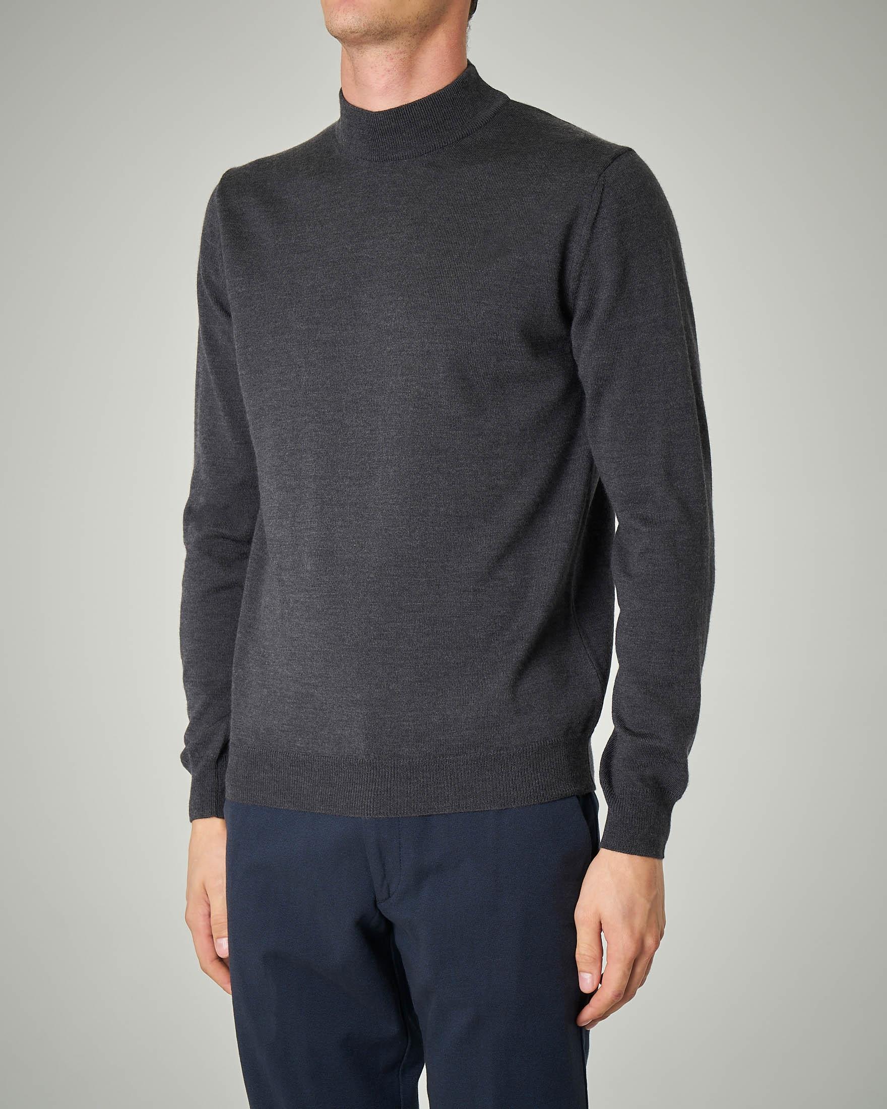 Lupetto antracite in lana merino