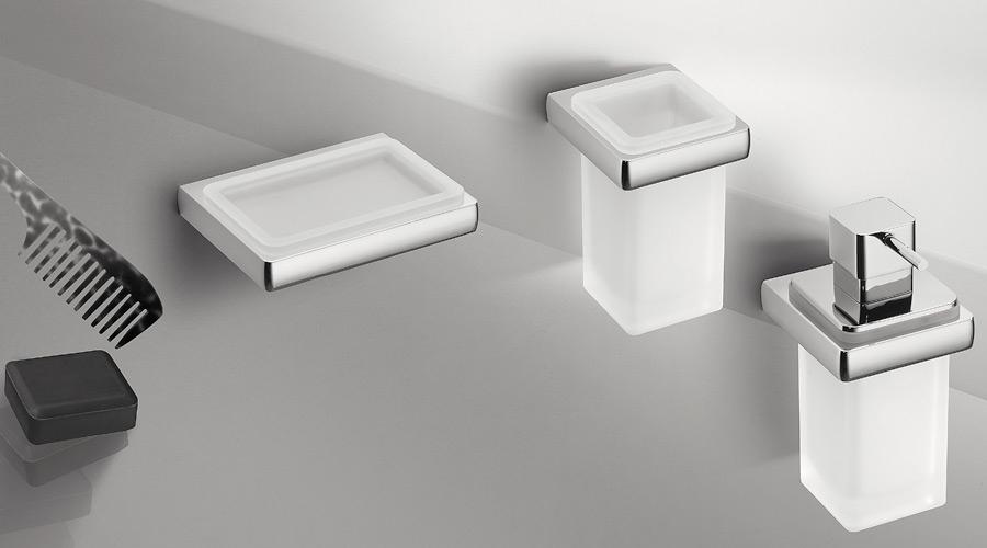 Dispenser dosa sapone a parete per il bagno serie Lulu Colombo design