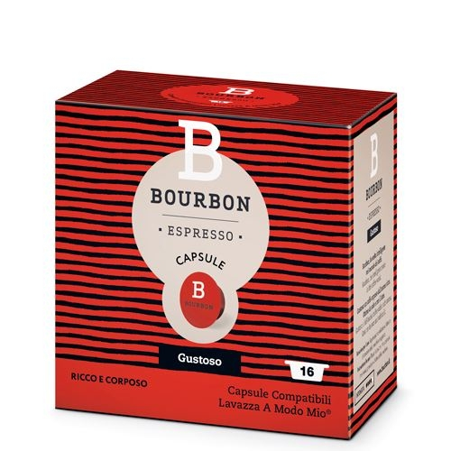 Caffè Espresso Bourbon Gustoso - 16 Caps - A Modo Mio