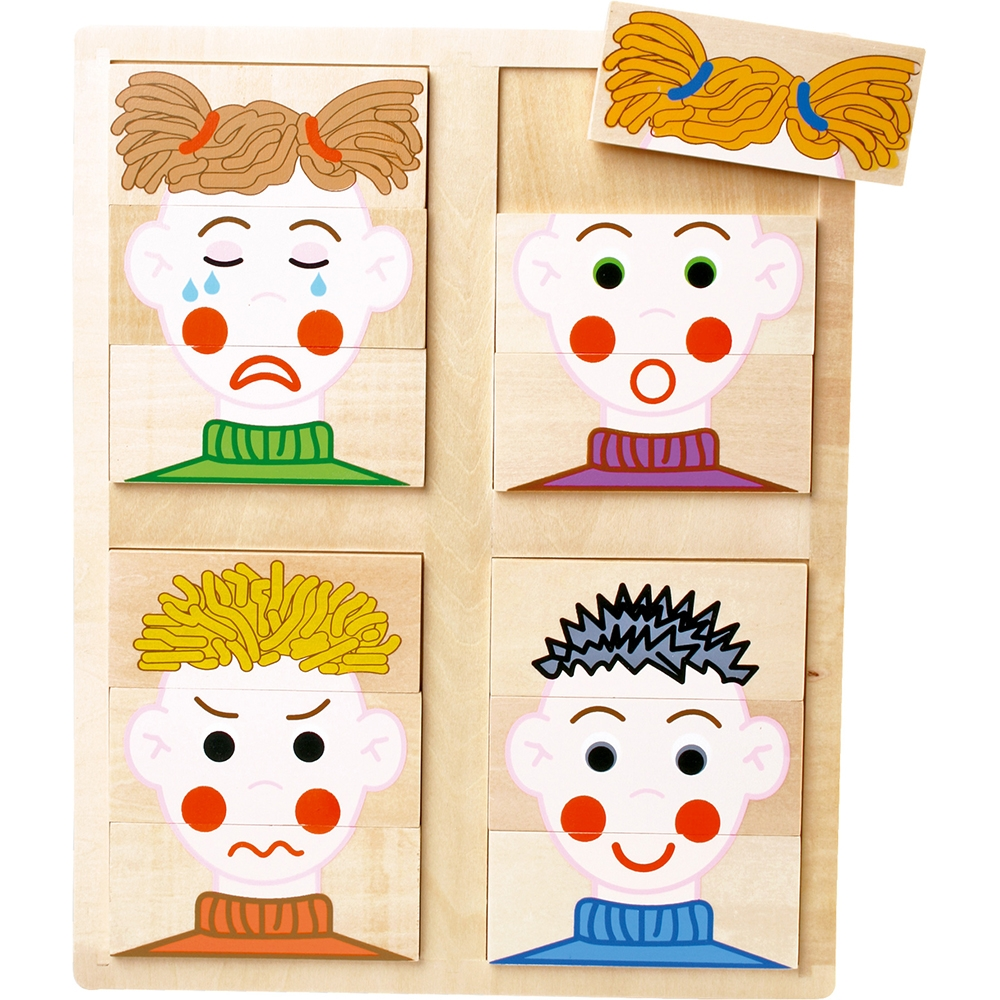 Puzzle in legno facce