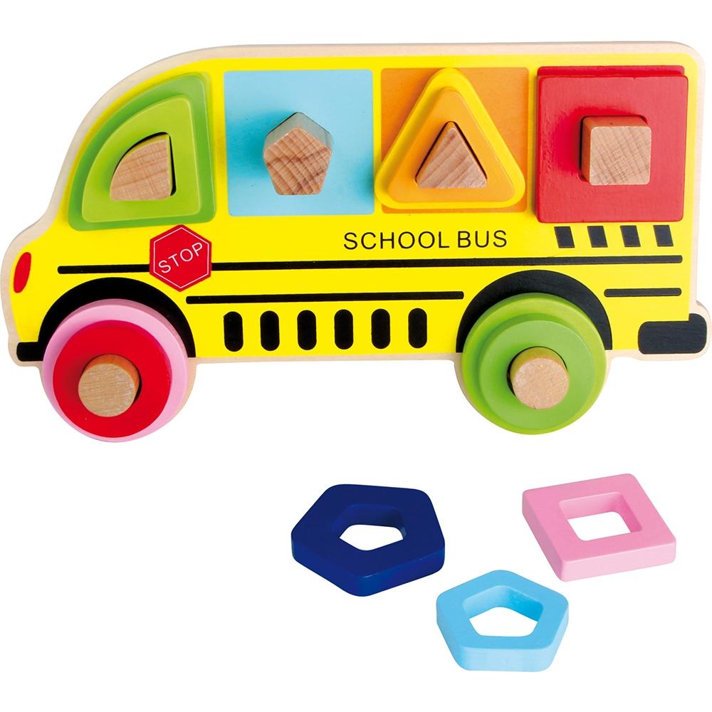 Scuolabus - Puzzle ad incastro forme