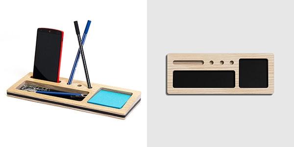 Organizer da scrivania Themis con penne e cellulare