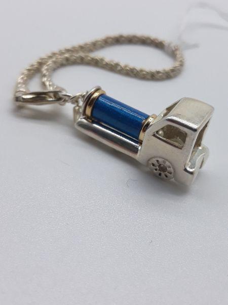 Portachiavi in argento a forma di locomotiva con catenella, vendita on line | GIOIELLERIA BRUNI Imperia