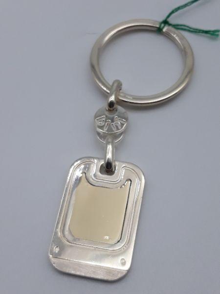 Portachiavi in argento 925 con riporto in oro 750, vendita on line   GIOIELLERIA BRUNI Imperia