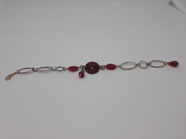 Bracciale donna in argento e Agata rossa, vendita on line | GIOIELLERIA BRUNI Imperia