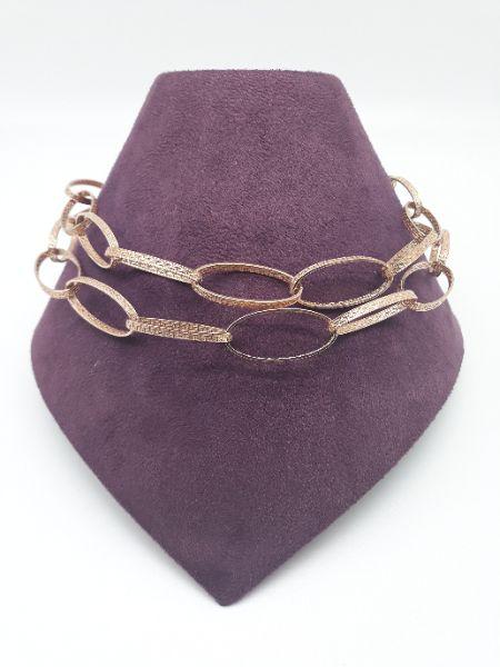 Collana donna con maglia  a greca in argento 925 vendita on line | BRUNI Gioielleria