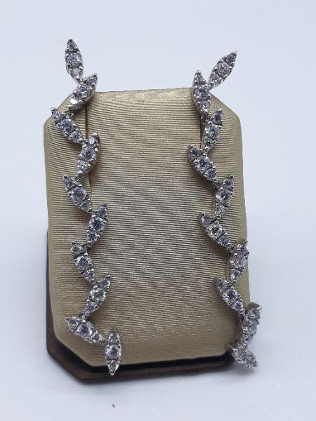 Orecchini pendenti con zirconi in argento 925 | GIOIELLERIA BRUNI Imperia