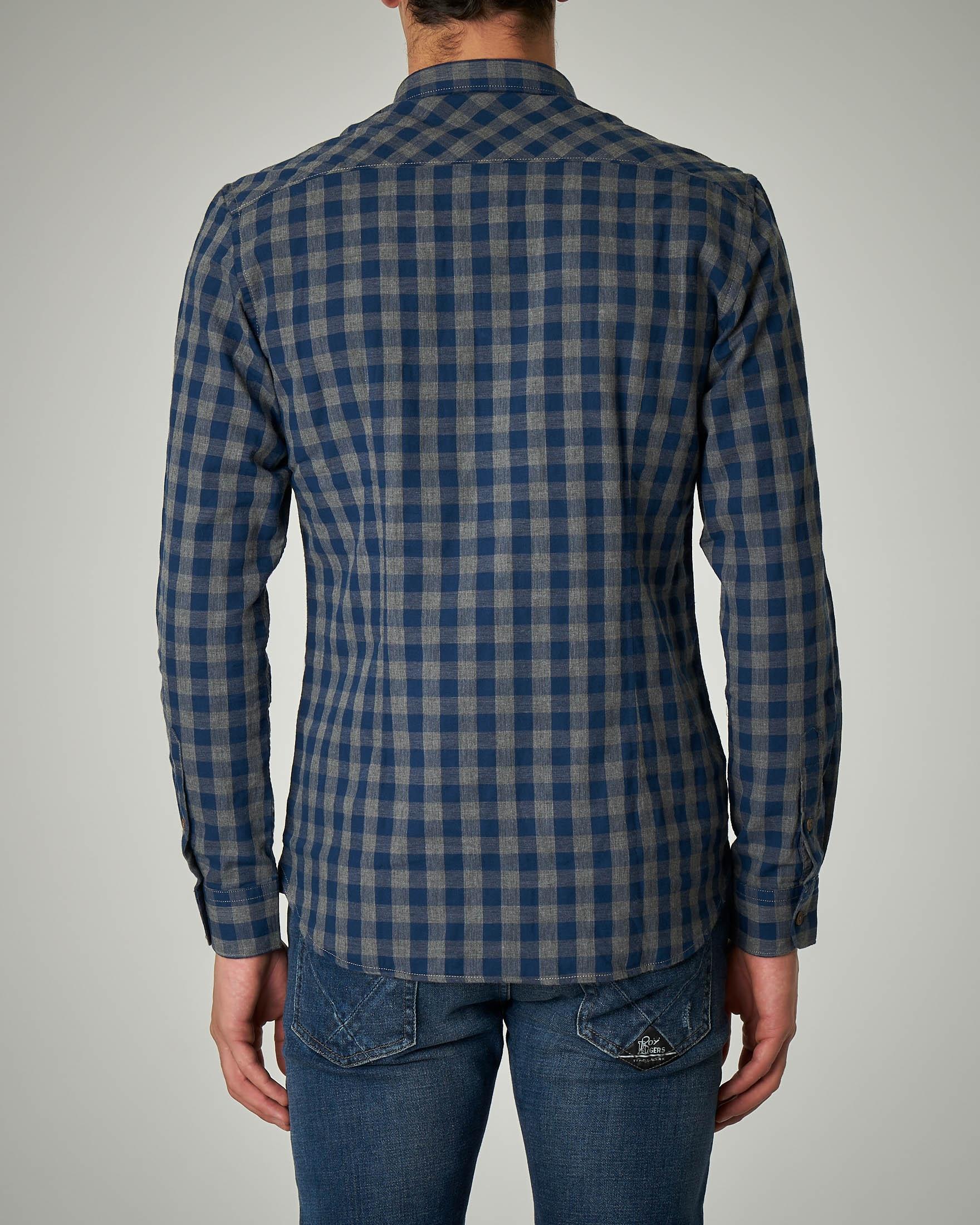 pretty nice ae48b 04788 Camicia a quadri blu e grigi | Pellizzari E-commerce