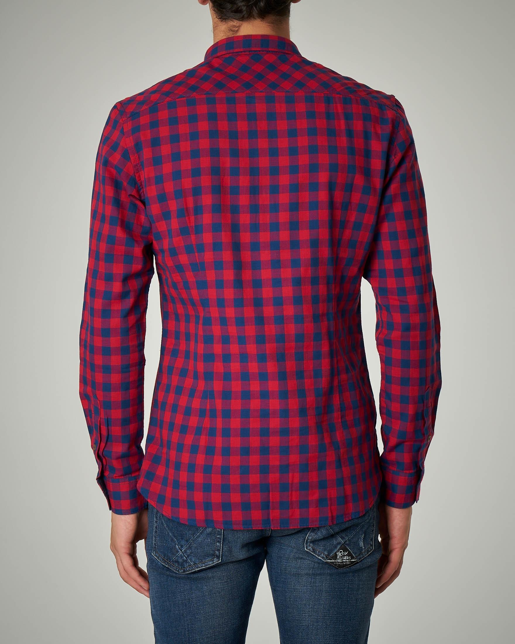 innovative design d8071 78060 Camicia a quadri rossi e blu   Pellizzari E-commerce