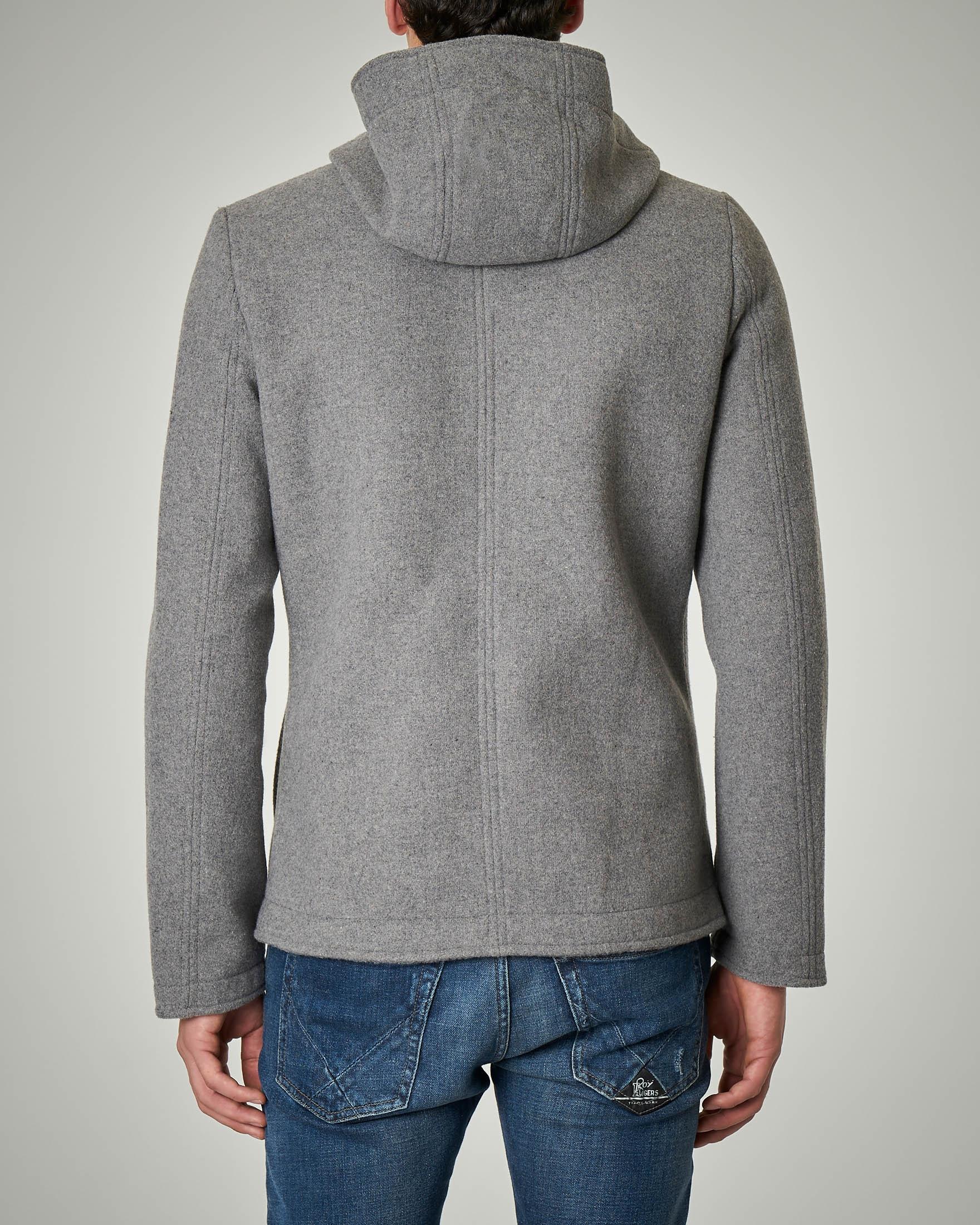 pretty nice 09d36 9ab9e Cappotto grigio chiaro con cappuccio | Pellizzari E-commerce