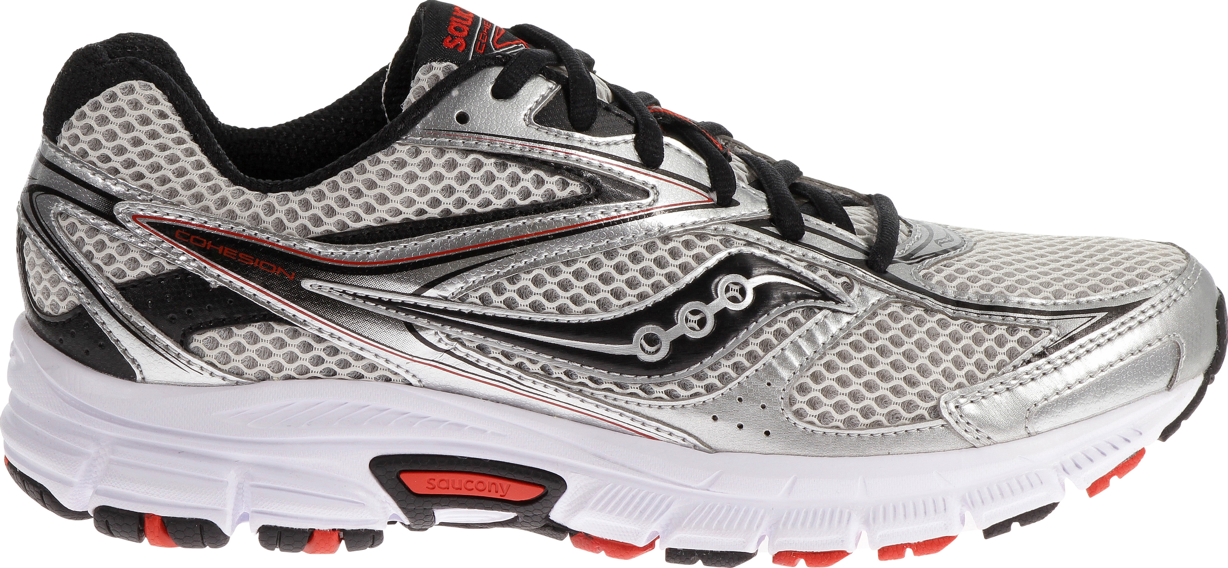 SCARPE SAUCONY GRID COHESION 8 RUNNING S25218-6 SIL/BLK/RED