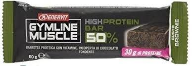 Gymline Muscle Enervit  High Protein bar 50% low sugar gusto brownie