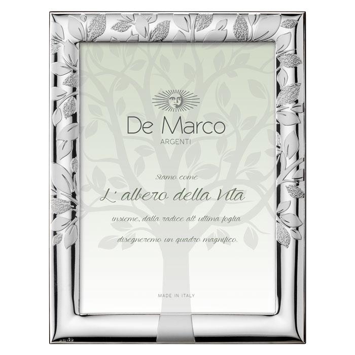 Cornice portafoto in argento bilaminato per foto di 10 cm x 15 cm