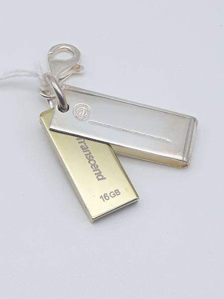 Chiavetta USB Transcend 16 GB in argento, vendita on line | GIOIELLERIA BRUNI Imperia