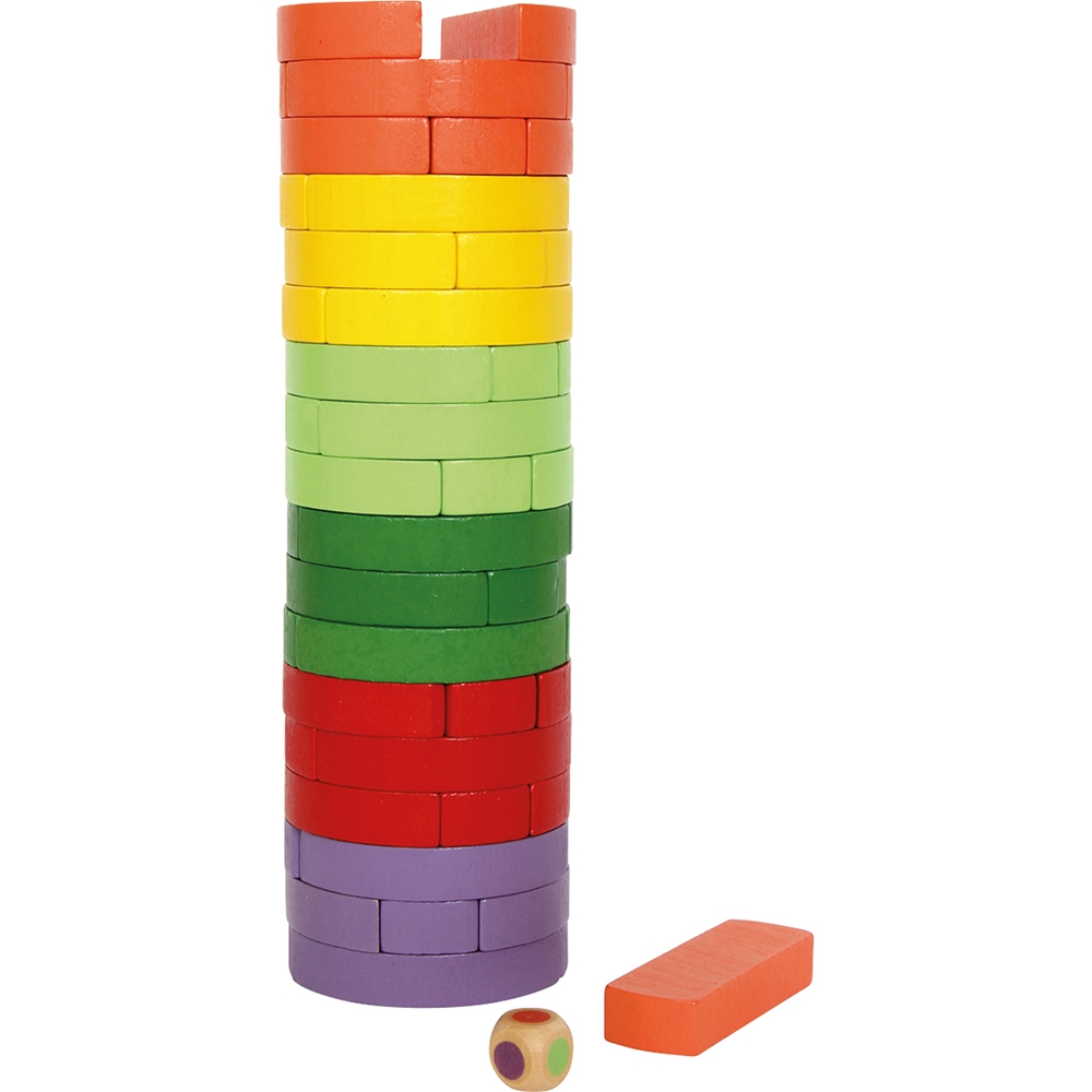 Torre traballante colorata