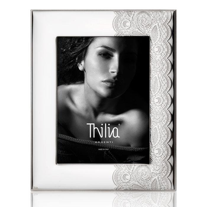 Cornice portafoto in argento bilaminato per foto di 18 cm x 24 cm