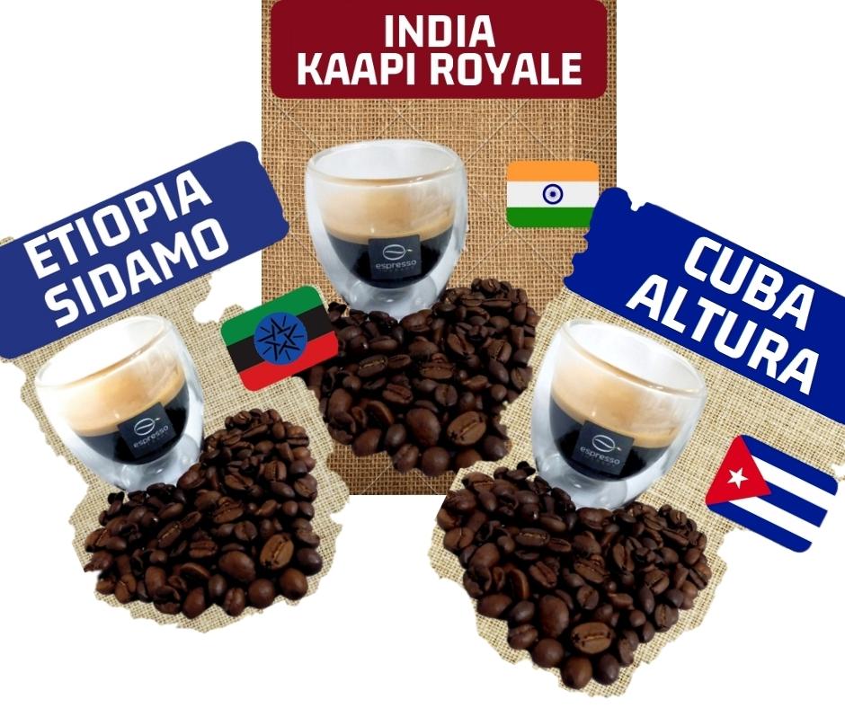 150 capsule Pure Origin Etiopia India Cuba capsule per nespresso compatibile