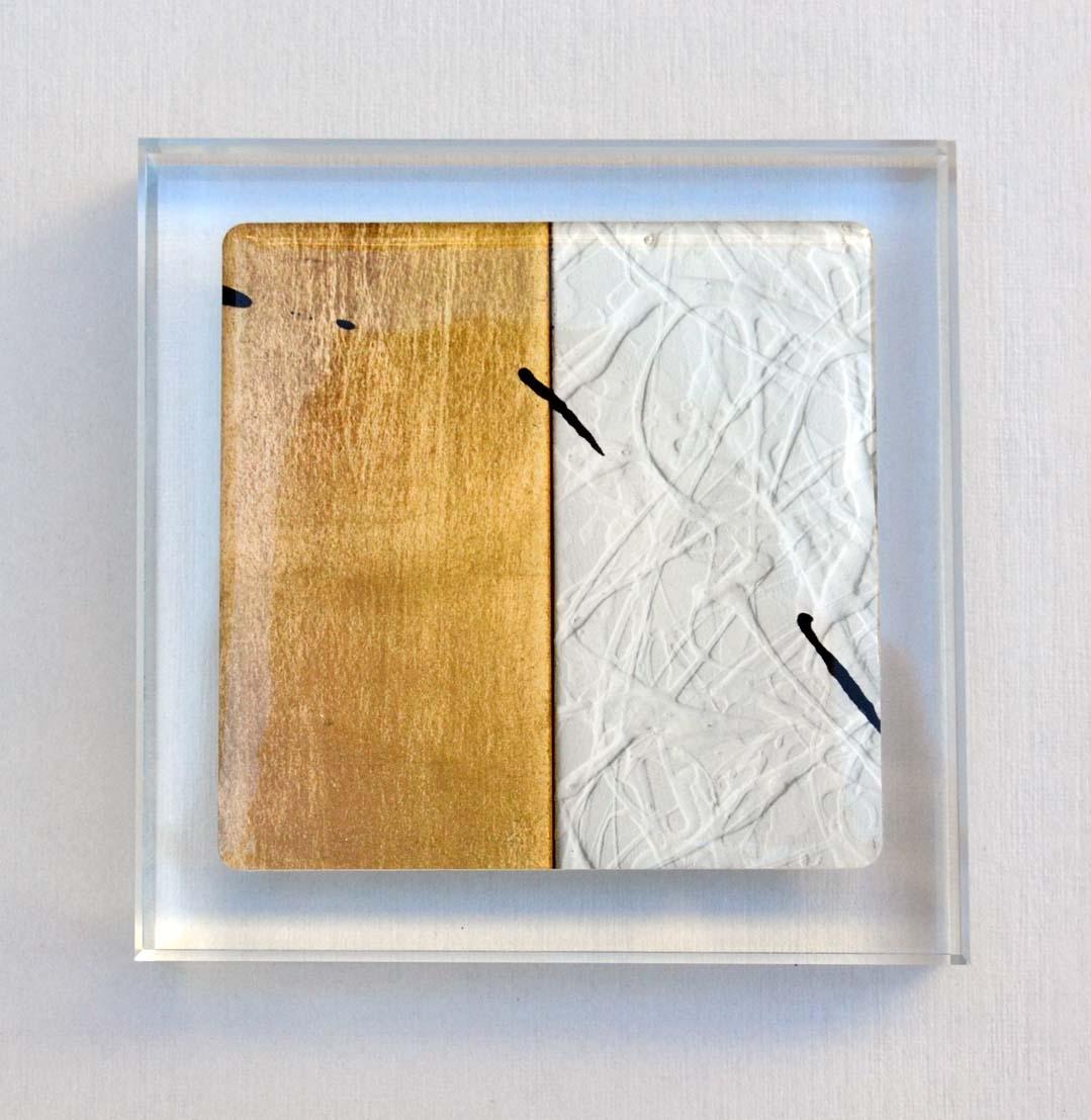 BASTIANELLI GIANLUCA, fermacarte in cristallo, formato cm 10x10