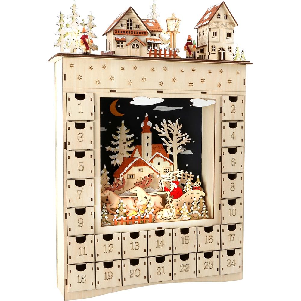 Calendario d'Avvento in legno Sogno invernale