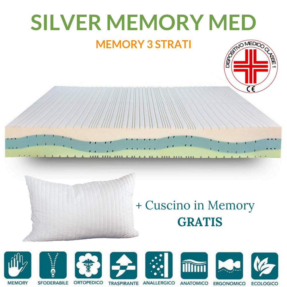 Materassi Per Dormire Memory.Materasso Memory Ortopedico Dispositivo Medico Alto 20 Cm Silver Memory Med Prezzi A Partire Da