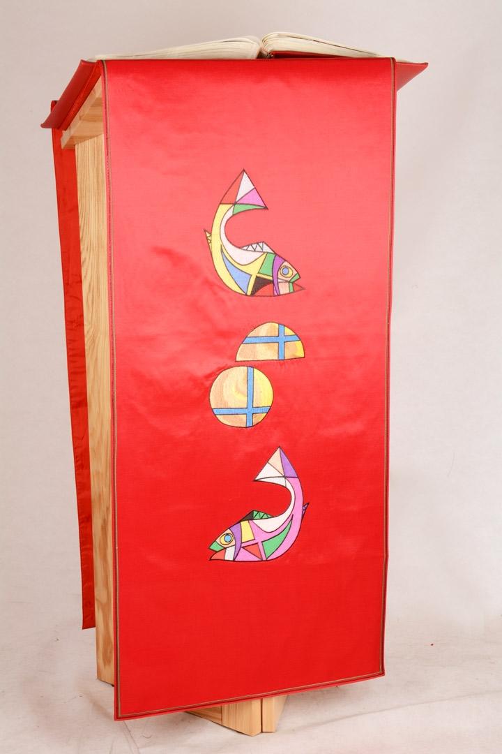 Copri Ambone 7 MB Pani e Pesci - Rosso - 50 x 260 cm