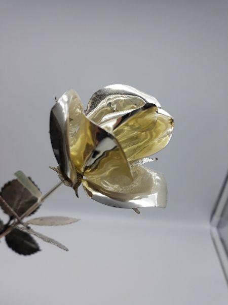 Rosa in argento, vendita on line   GIOIELLERIA BRUNI Imperia