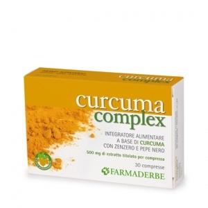 Curcuma Complex integratore di Curcuma zenzero e pepe nero 500 mg di estratto titolato per compressa