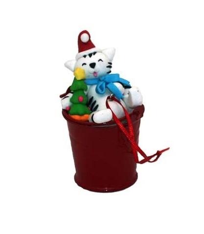 Secchiello di Natale con un Gattino (BL-2040)