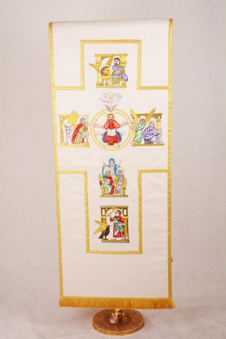 Copri Ambone 22 MA Croce Evangelisti - Bianco - Con Bordo