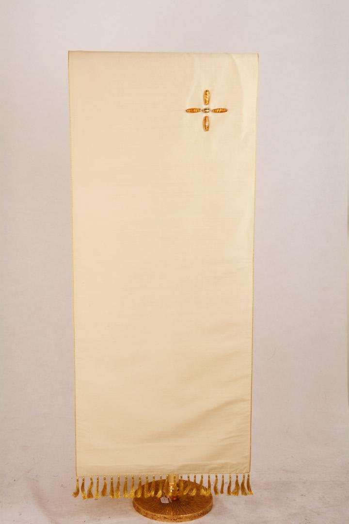 Copri Ambone Croce Perle CR2022 MF - Bianco - 50 x 260 cm