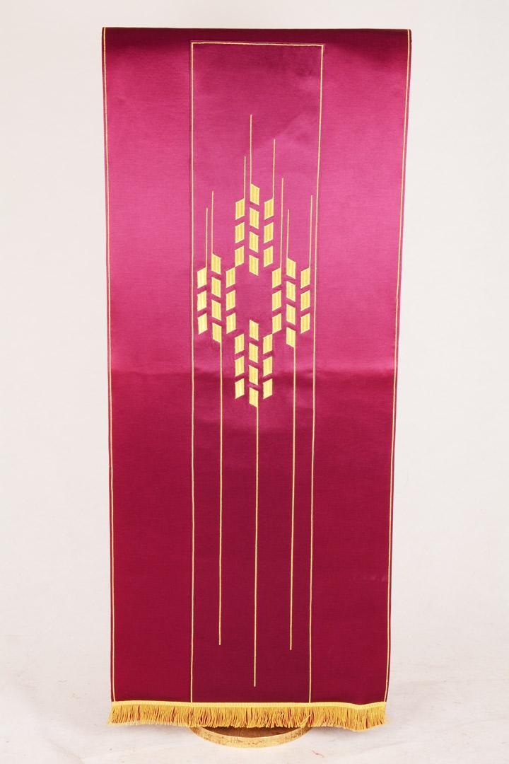 Copri Ambone 16 MA Croce Ulivo - Morello - 50 x 260 cm