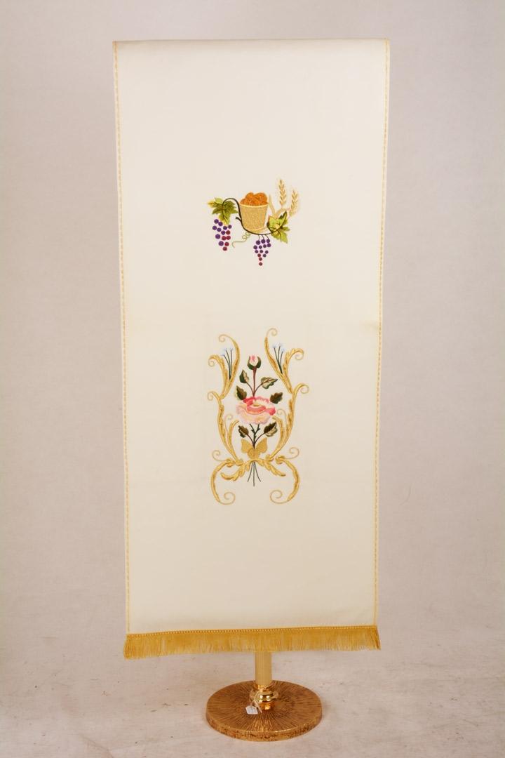 Copri Ambone 5 MA Fiore Barocco - Bianco - 50 x 260 cm
