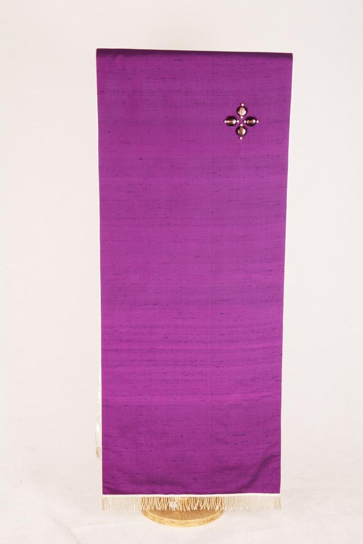 Copri Ambone Croce Perle 500 MF - Viola - 50 x 260 cm