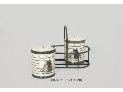 Set sale&pepe con cestino in metallo
