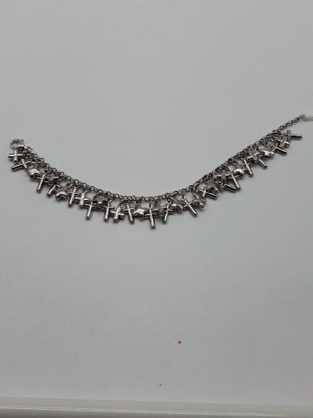 Bracciale donna charms in argento con crocette, vendita on line | OROLOGERIA BRUNI Imperia