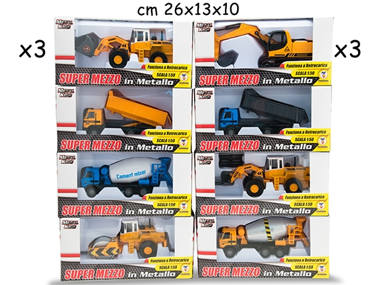 MEZZI IN CANTIERE 6MDL ASS 1:50 65241 TEOREMA