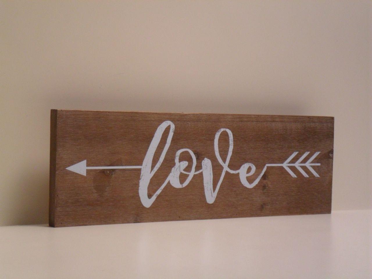 Stampe Su Legno Pannello Decorativo In Legno Love Stile Shabby Chic
