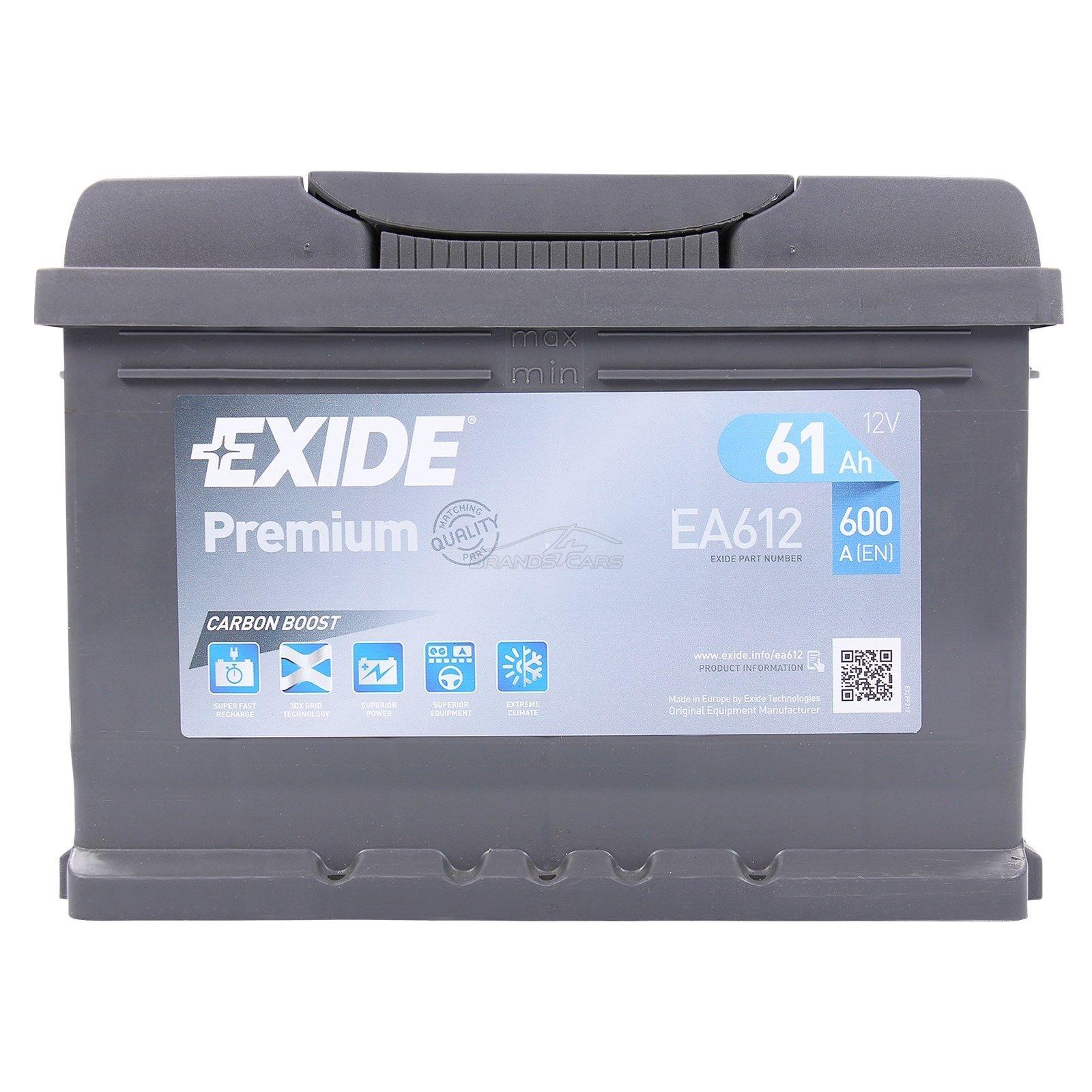 Batteria EXIDE 61Ah Dx - EA612