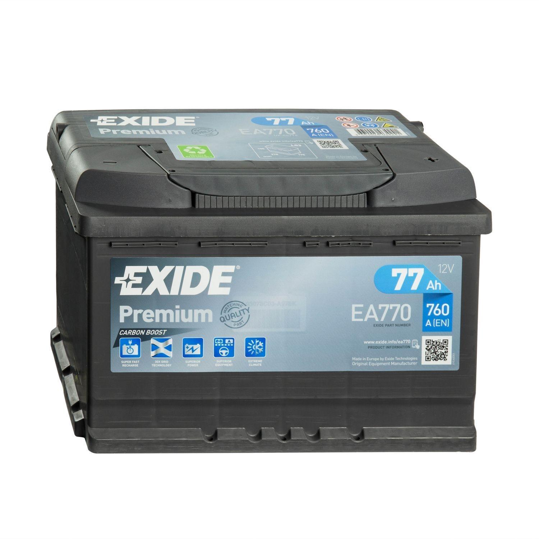 Batteria PREMIUM EXIDE 77Ah Dx - EA770