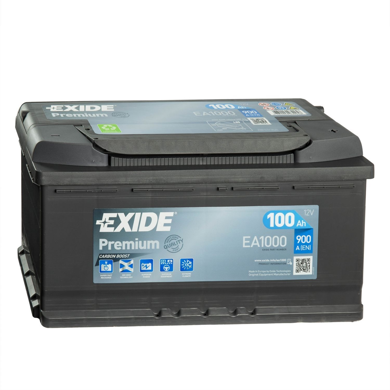 Batteria PREMIUM EXIDE 100Ah Dx - EA1000