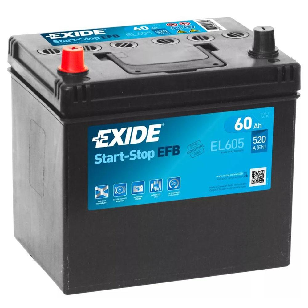 Batteria EXIDE 60Ah Sx - EL605