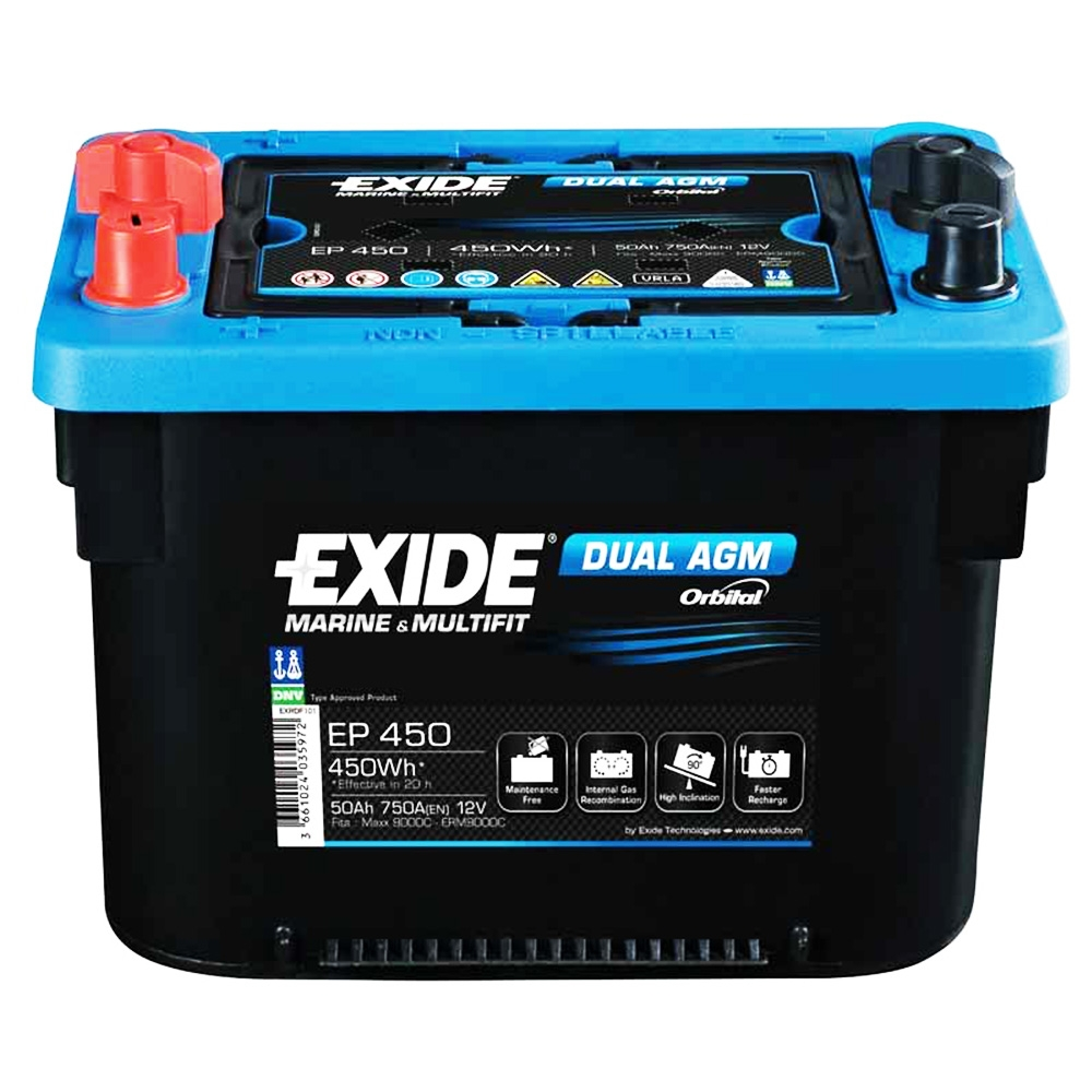 Batteria EXIDE 50Ah Sx - EP450