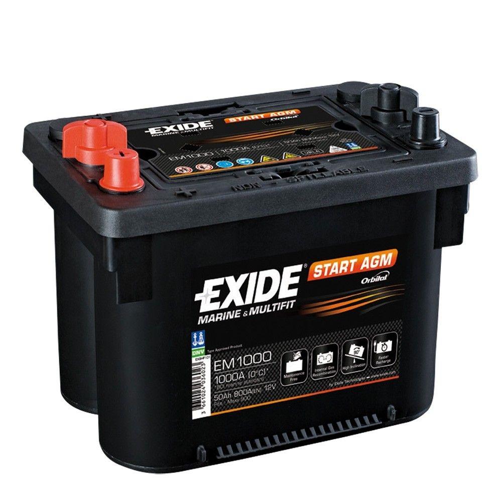Batteria EXIDE 50Ah Sx - EM1000