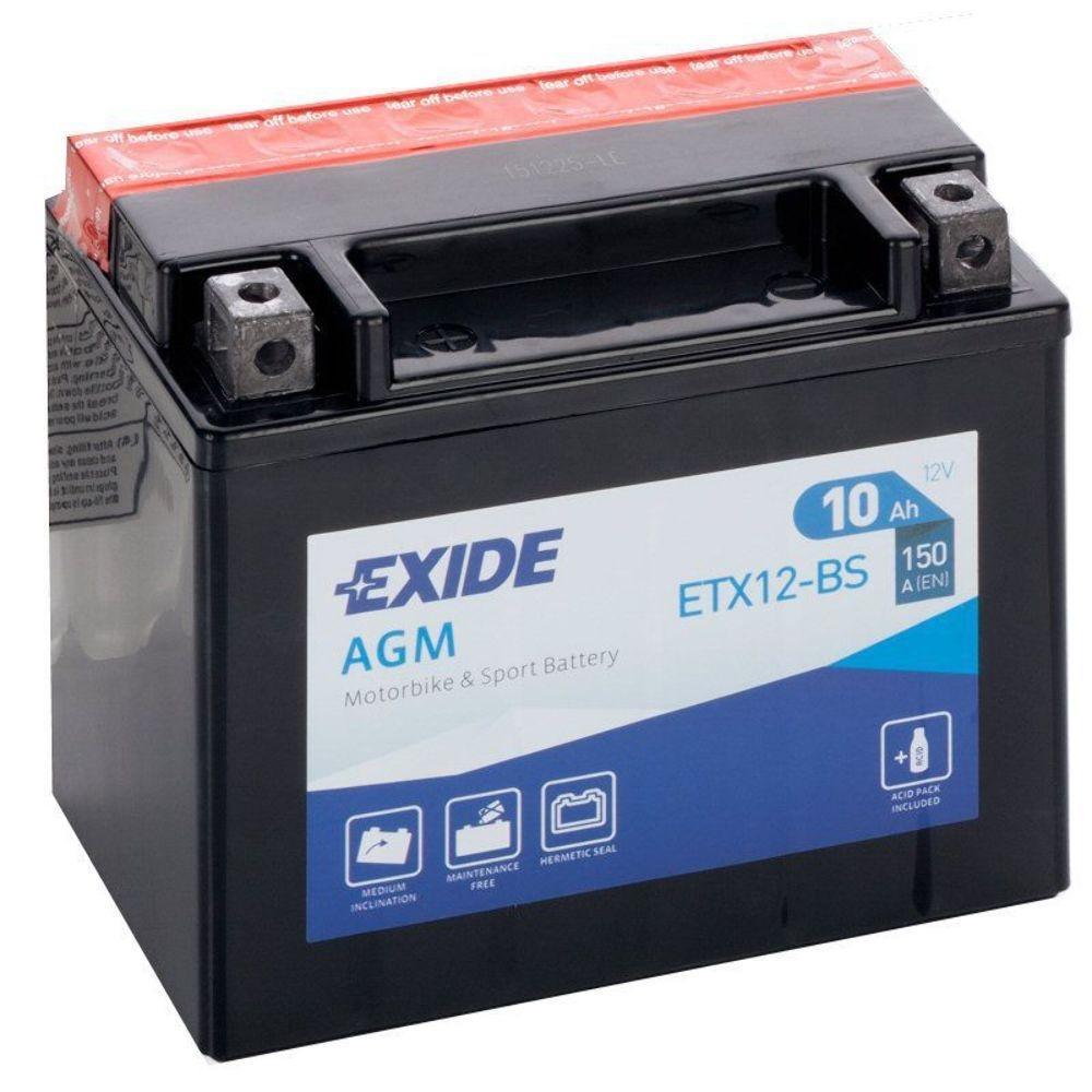 Batteria MOTO EXIDE 10Ah Sx - ETX12-BS