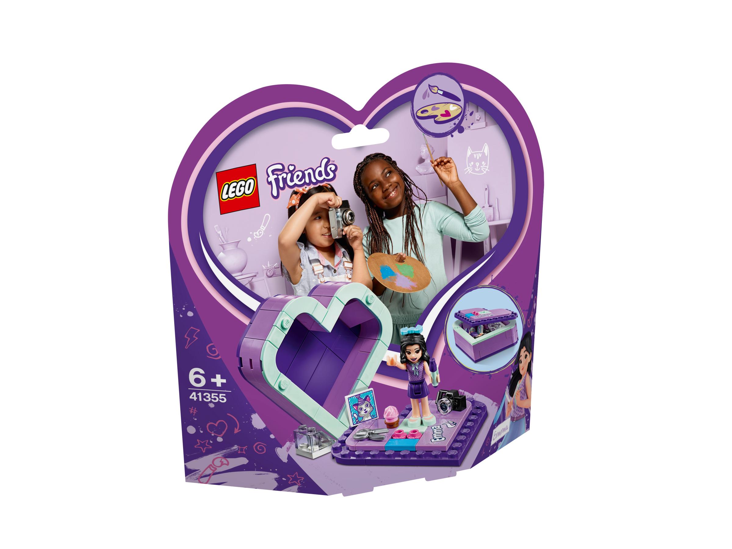 lego friends cuore  LEGO FRIENDS SCATOLA DEL CUORE DI EMMA 41355