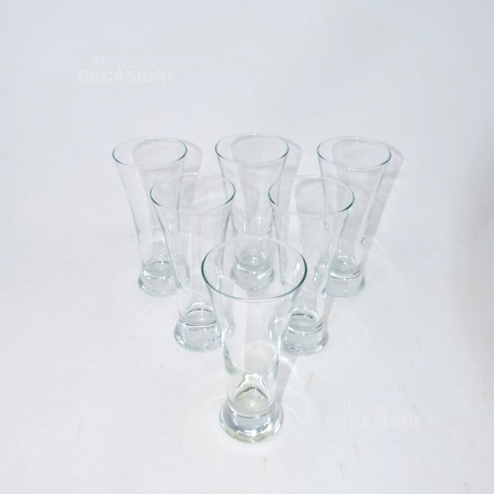 6 Bicchieri Vetro