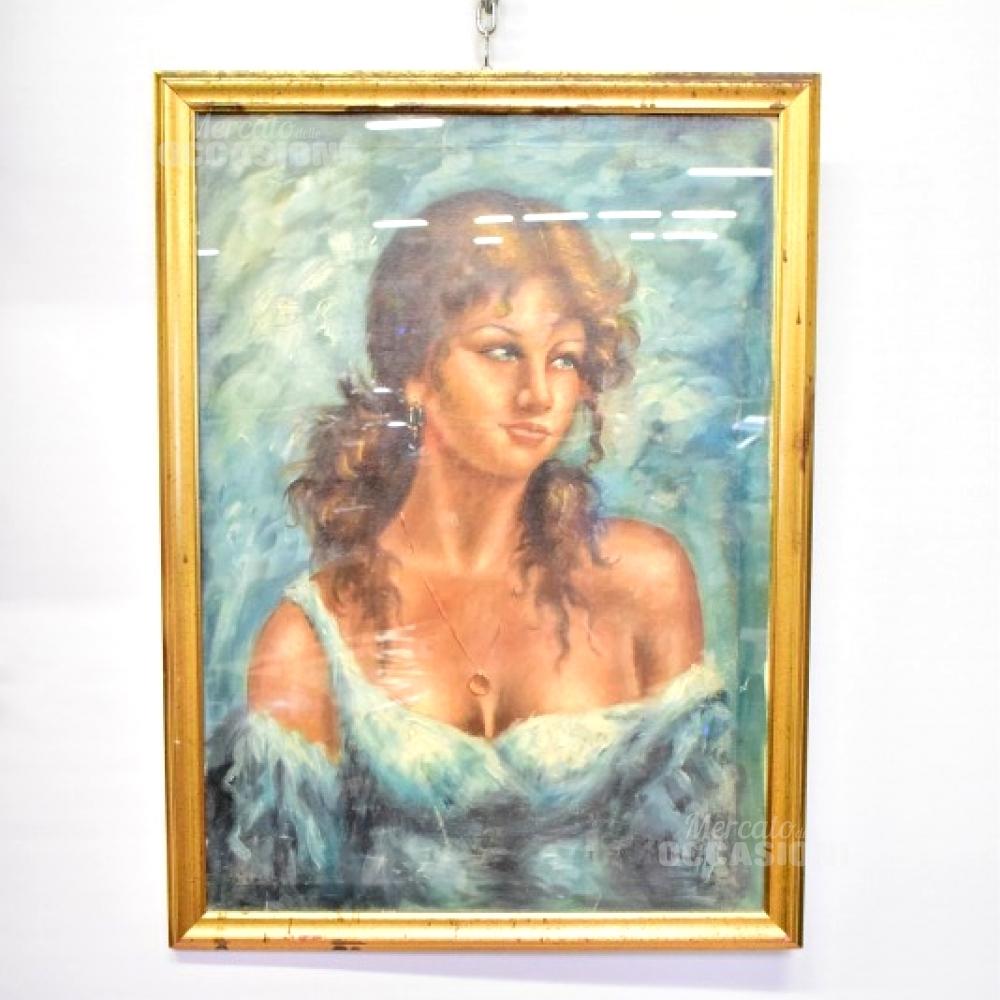 Dipinto Su Tela Donna 56*76cm