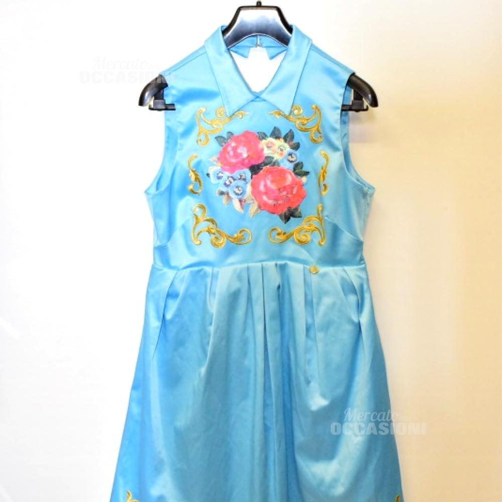 Vestito Donna Mangano Azzurro Tg 42