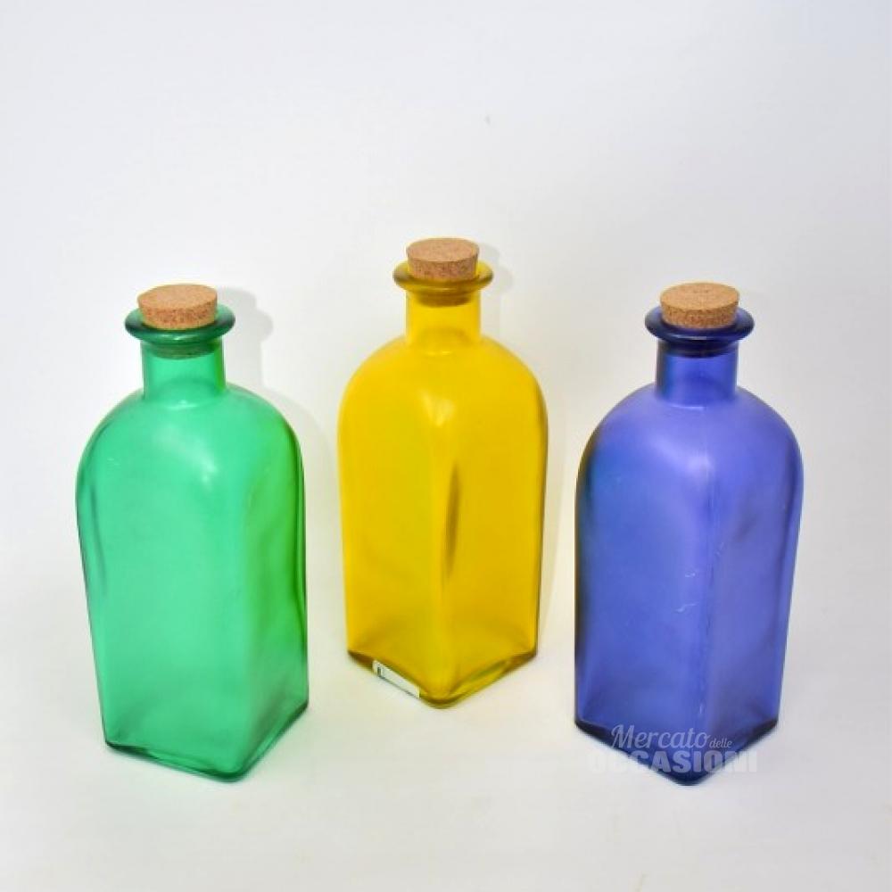 3 Vasi Colorato Vetro