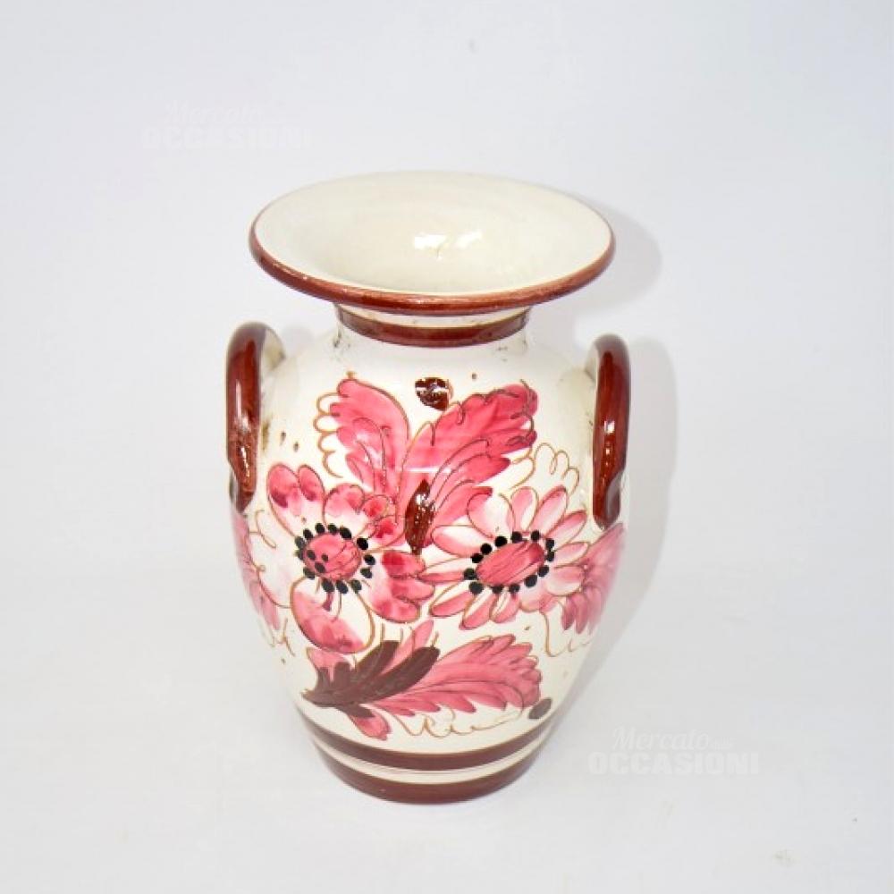 Vaso Ceramica Fiori Viola
